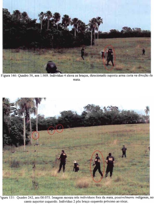 Reprodução do inquérito mostra ataque a indígenas na Fazenda Buriti. Foto: Ascom MPF/MS.